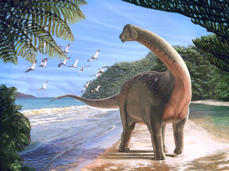 Dinosaurs in Sahara