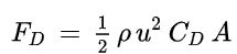 Drag equation