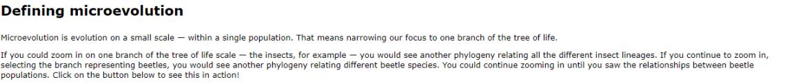 UC Berkley microevolution
